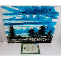 "189) ""BRIGHT BLUE SKY"" WILLIAM VERDULT OIL ON"