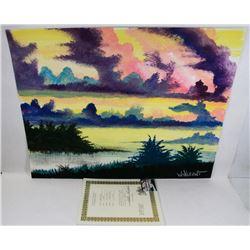 "205) ""HIDDEN VALLEY"" WILLIAM VERDULT OIL ON ARTIST"