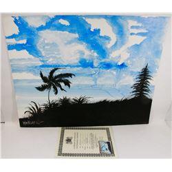 """215) """"NEWPORT COAST"""" WILLIAM VERDULT OIL ON ARTIST"""