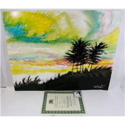 "225) ""SHADOWLAND"" WILLIAM VERDULT OIL ON ARTIST"
