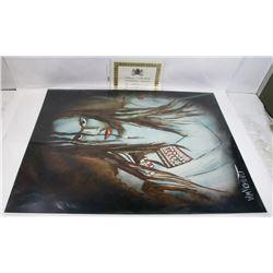"""198) """"ENCHANTING"""" WILLIAM VERDULT OIL ON ARTIST"""