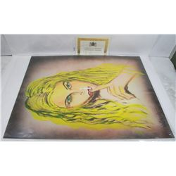 """252) """"DIVA"""" WILLIAM VERDULT OIL ON ARTIST PAPER."""