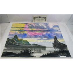 """219) """"PLACID LAKE WILLIAM VERDULT OIL ON ARTIST"""