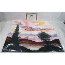 "199) ""EVERGREENS"" WILLIAM VERDULT OIL ON ARTIST"