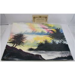 "226) ""SHADOWS"" WILLIAM VERDULT OIL ON ARTIST PAPER"