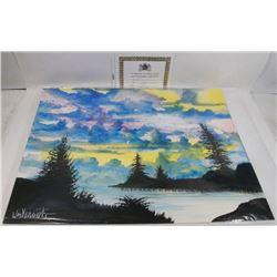 "228) ""SOLACE LAKE"" WILLIAM VERDULT OIL ON ARTIST"