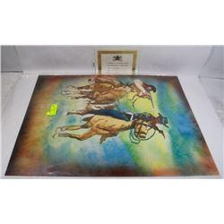 """245) """"WILD FRONTIER"""" WILLIAM VERDULT OIL ON ARTIST"""