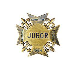 St. Louis 1904 Summer Olympics Judge's Badge