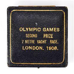 London 1908 Summer Olympics Silver Winner's Medal Case