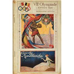Pair of Antwerp 1920 Summer Olympics Programs