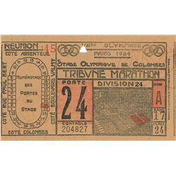 Paris 1924 Summer Olympics Ticket