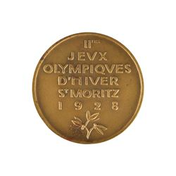 St. Moritz 1928 Winter Olympics Bronze Participation Medal