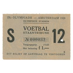 Amsterdam 1928 Summer Olympics Ticket