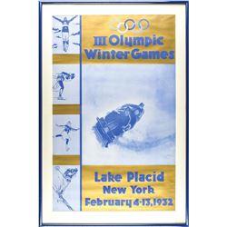 Lake Placid 1932 Winter Olympics Poster