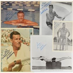 Buster Crabbe Group of (5) Signed Photographs