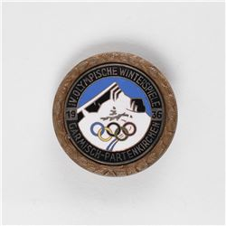 Garmisch 1936 Winter Olympics Athlete's Badge