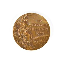 Helsinki 1952 Summer Olympics Bronze Winner's Medal with Case and Pin