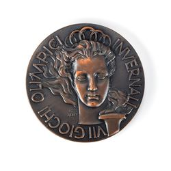 Cortina 1956 Winter Olympics Bronze Participation Medal