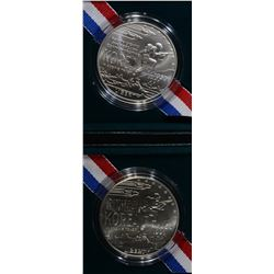 2 - 1991 KOREAN WAR UNC SILVER