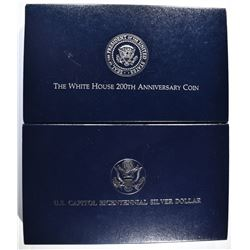 LOT OF 2: 1992 WHITE HOUSE 200th ANNIV PROOF