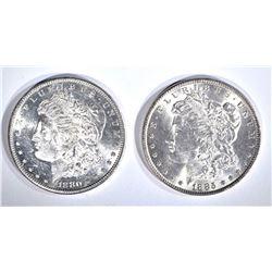 1880-S & 85 CH BU MORGAN DOLLARS