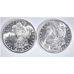 1881-S & 83-O CH BU MORGAN DOLLARS
