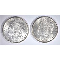 1888 & 89 CH BU MORGAN DOLLARS