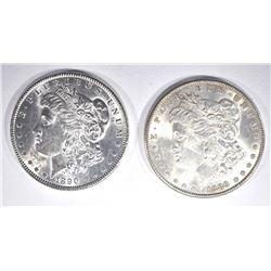 1889 & 90 CH BU MORGAN DOLLARS