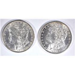 2-1899-O CH BU MORGAN DOLLARS
