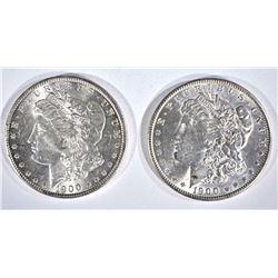 1900 & 1900-O CH BU MORGAN DOLLARS