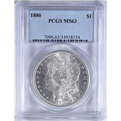 1880 MORGAN DOLLAR PCGS MS-63