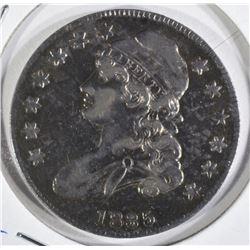 1835 CAPPED BUST HALF DOLLAR  AU