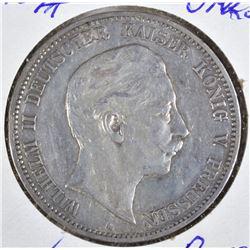 1907-A SILVER 5 MARKS GERMAN EMPIRE