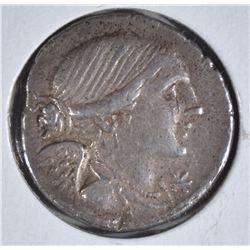 108-107 BC SILVER DENARIUS ROME REPUBLIC