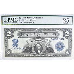 1899 $2 SILVER CERTIFICATE PMG 25