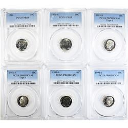 PCGS GRADED PROOF DIME LOT