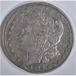 1878-CC MORGAN DOLLAR, XF rim bump
