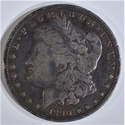 1890-CC MORGAN DOLLAR, VF