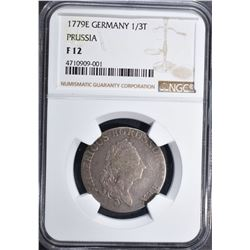 1779 E GERMANY 1/3T PRUSSIA NGC F 12