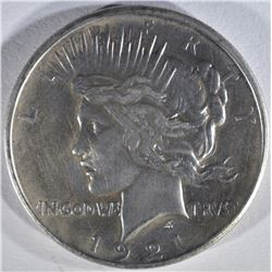 1921 PEACE DOLLAR AU CLEANED