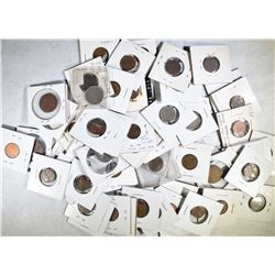 LOT OF 60 COINS:  MINT ERROR, BLANK PLANCHETS,