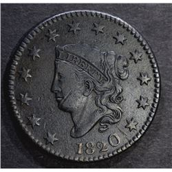 1820 LARGE CENT, N-9, XF