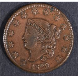 1829 LARGE CENT XF+ TOUGH DATE