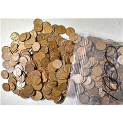 5000-MIXED DATE CIRC LINCOLN WHEAT CENTS