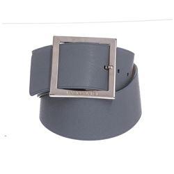 Bvlgari Light Blue Oversized Buckle Belt 36