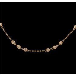 1.99 ctw Diamond Necklace - 14KT Rose Gold