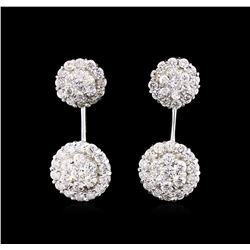1.66 ctw Diamond Earrings - 14KT White Gold