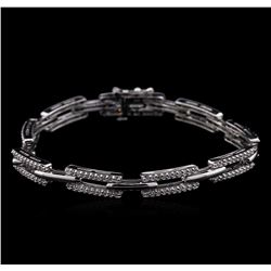 1.45 ctw Diamond Bracelet - 14KT White Gold