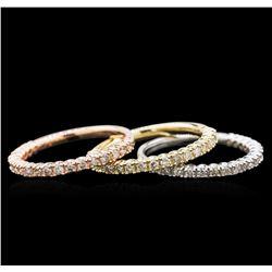 1.12 ctw Diamond Ring - 14KT Tri-Color Gold