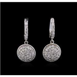 1.33 ctw Diamond Earrings - 14KT White Gold